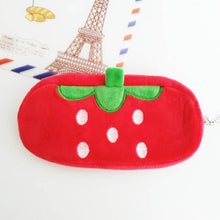 Load image into Gallery viewer, Plush Fruit Pencil Case