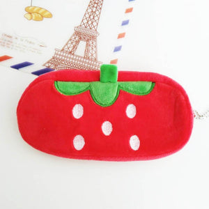 Plush Fruit Pencil Case