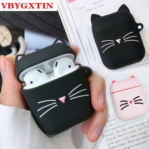 Kawaii Cat Airpods Case