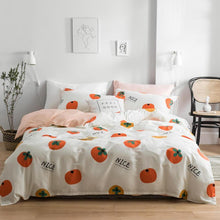 Load image into Gallery viewer, Pink Peach 4Pcs/Set Cotton Bedding Set