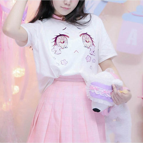 Harajuku Kawaii Eyes T-Shirt