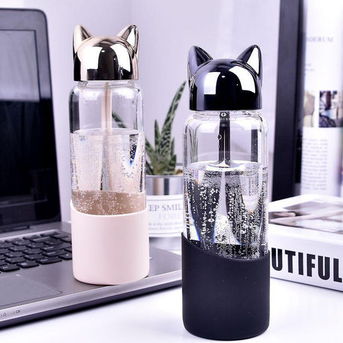 350 ML Fox Glass Water Bottle