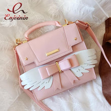 Load image into Gallery viewer, Pink Lolita Handbag with Wings