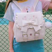 Load image into Gallery viewer, Preppy Lolita Cat Backpack