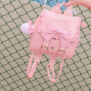 Preppy Lolita Cat Backpack