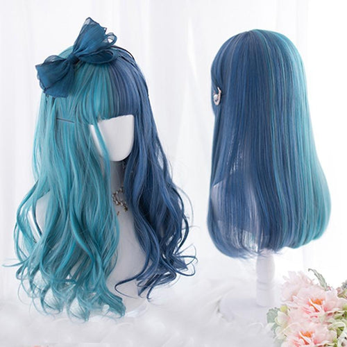 Mixed Blue Cosplay Wig
