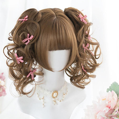 Short Curly Lolita Wig with Bangs