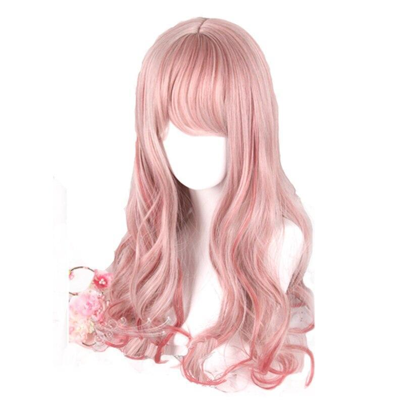 Pink Mixed Red Lolita Wig