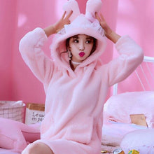 Load image into Gallery viewer, Bunny Hoodie Sleepwear