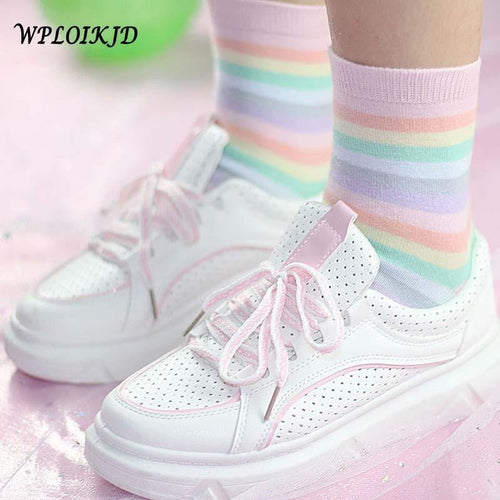 Kawaii Rainbow Socks