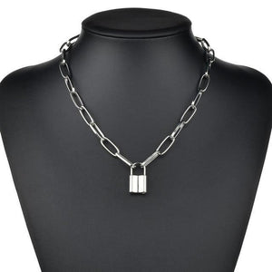 Multi Layers chain Necklace with Lock