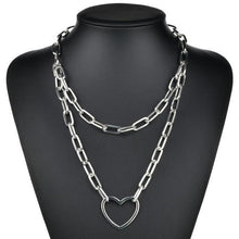 Load image into Gallery viewer, Multi Layers chain Necklace with Lock