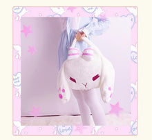 Load image into Gallery viewer, White Rabbit Plush Backpack