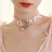 Load image into Gallery viewer, Lolita Girl Heart Choker Necklace