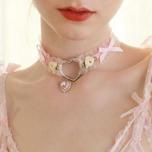 Lolita Girl Heart Choker Necklace