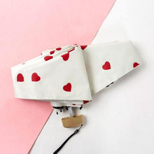 Load image into Gallery viewer, Mini Vinyl Umbrella With Kawaii Hearts