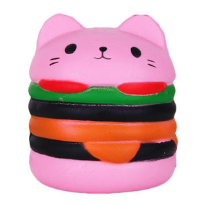 Jumbo Cat Burger Squishy