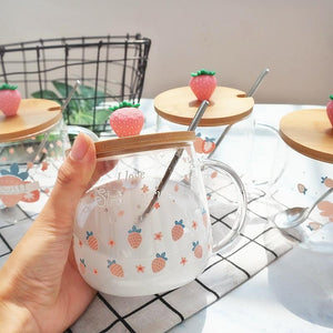 Strawberry Water Glass