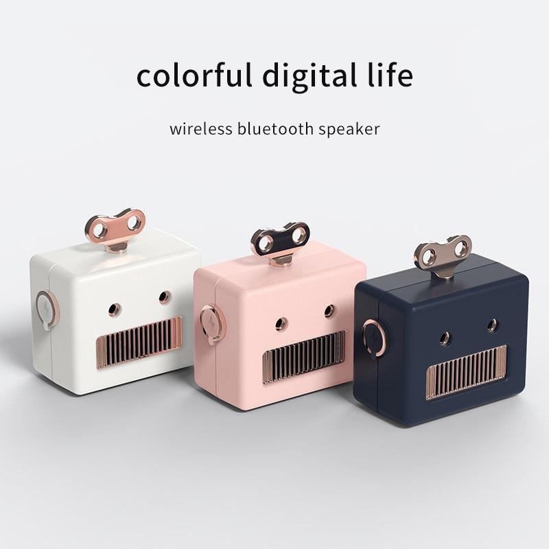 Robot Head Bluetooth Speaker with Microphone