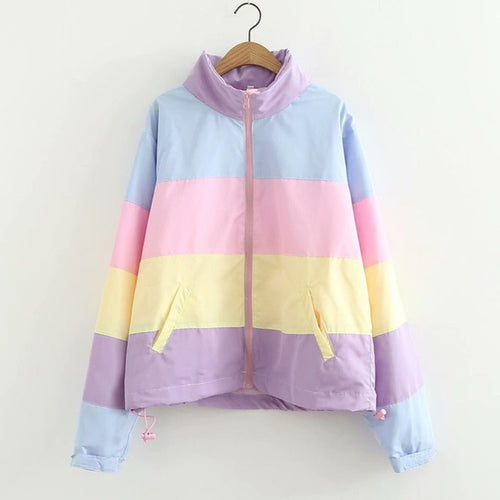 Pastel Puffer Jacket With Hood
