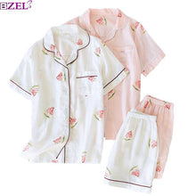 Load image into Gallery viewer, Gauze Cotton Floral Printed Pajamas