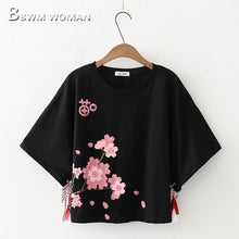 Load image into Gallery viewer, Kawaii Flower Print T-Shirt