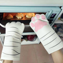 Load image into Gallery viewer, Cat Paw Oven Mitts