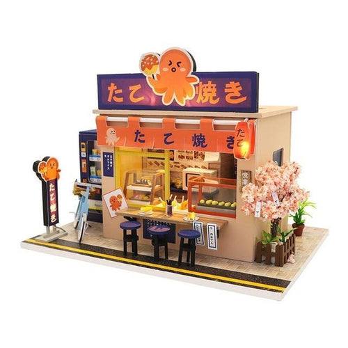 Japanese Takoyaki Shop Dollhouse Kit