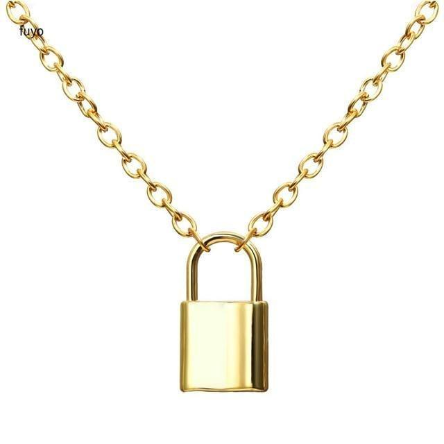 Chain with Lock Necklace