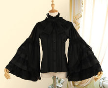Load image into Gallery viewer, Long Flare Sleeve Gothic Lolita Shirt