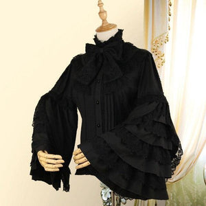 Long Flare Sleeve Gothic Lolita Shirt