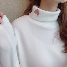 Load image into Gallery viewer, Cherry Embroidery Turtleneck Sweater