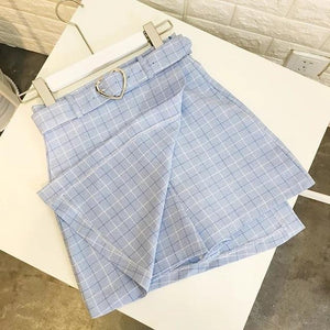 Cute Plaid Skort
