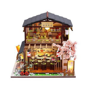 Two Story Japanese Sushi Restaurant Dollhouse