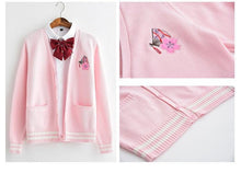 Load image into Gallery viewer, Cherry Blossom and Fan Knit Cardigan