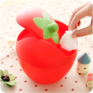 Mini Desktop Strawberry Trash Can