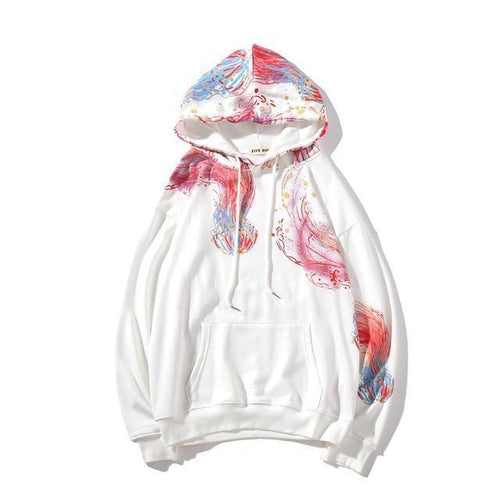 Jellyfish Print Couple Hoodies