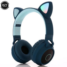 Load image into Gallery viewer, Cat Ears Bluetooth Headphones with LED Lights