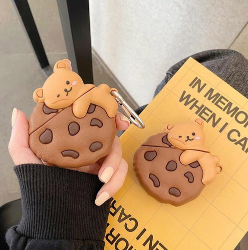 Chocolate Chip Bear Airpods Case