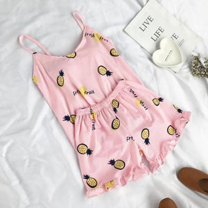Pineapple Print Pajamas