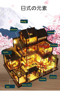 3 Story Traditional Japanese Dollhouse