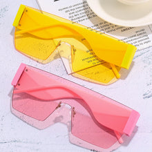 Load image into Gallery viewer, Rimless One Piece Square Sunglasses