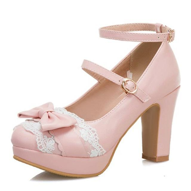 Lolita High Heels Bow Pumps