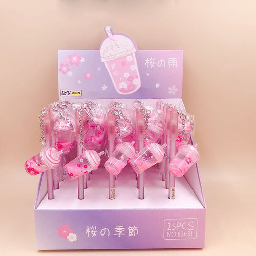 1pc Sakura Milk Tea Gel Pen