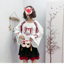 Load image into Gallery viewer, Red and White Torii Gate Sweater