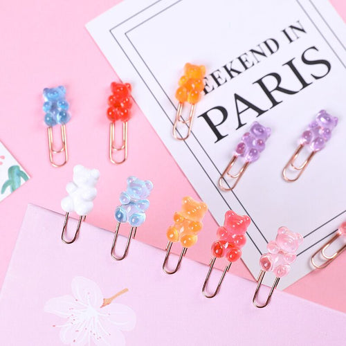 10pcs Gummy Bear Paper Clips