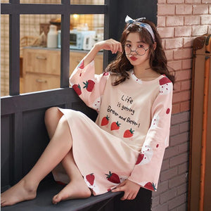 Strawberry Cotton Nightdress