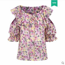 Load image into Gallery viewer, Off Shoulder Chiffon Top and Shorts