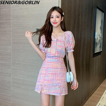 Load image into Gallery viewer, Pink Plaid 2 Piece Set