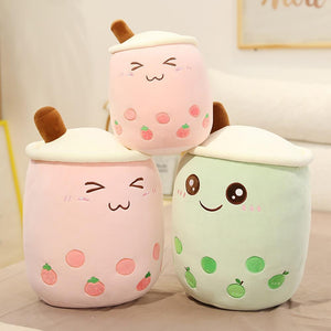 Pink and Green Bubble Tea Plushies